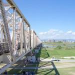 サイクリング 赤川鉄橋を渡ってきた
