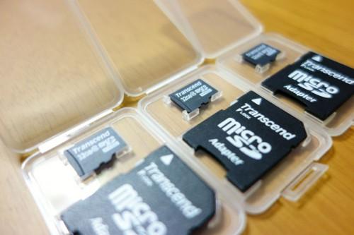 トランセンド micro SDカード3枚