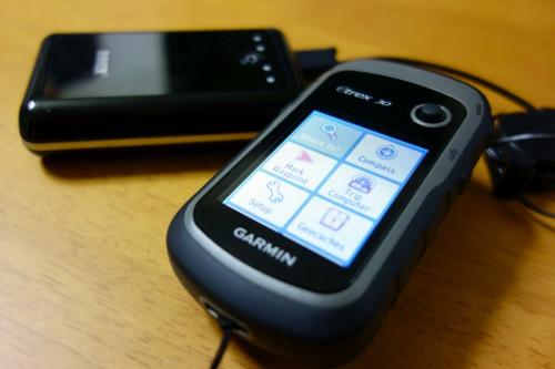 モバイルバッテリーで動かしているeTrex30