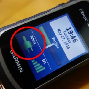 eTrex30のバッテリー表示