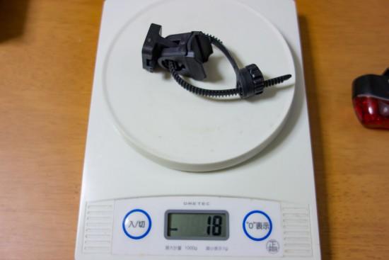 フレックスタイト・ブラケット(SP-11)の重さ