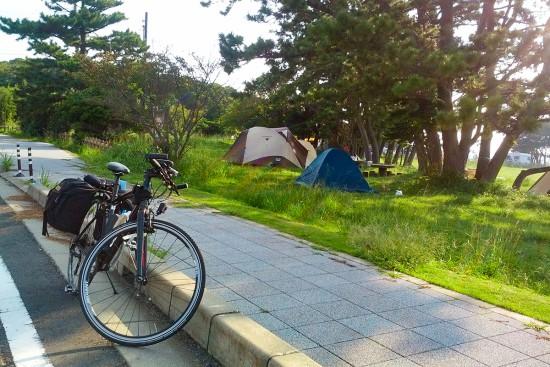 潮岬キャンプ場を出発