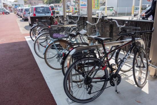 JR白浜駅の駐輪場