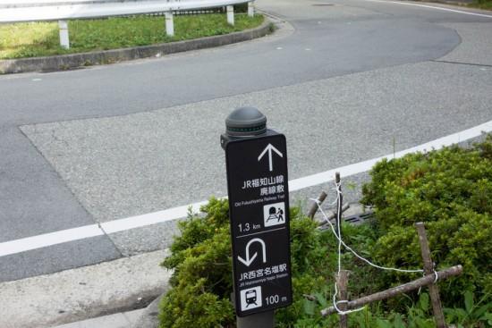 廃線敷への道標