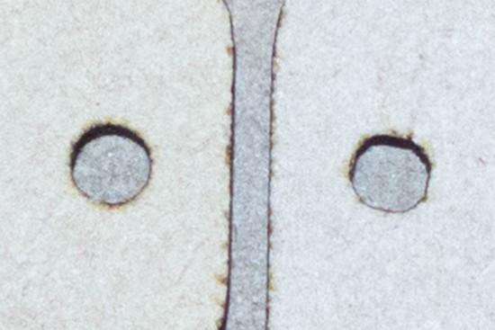 3mmの円形のカットを比較