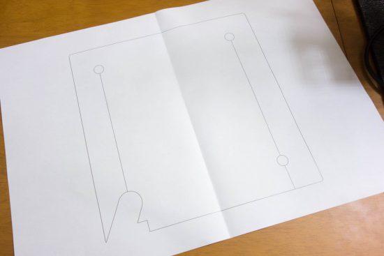 断熱材の型紙